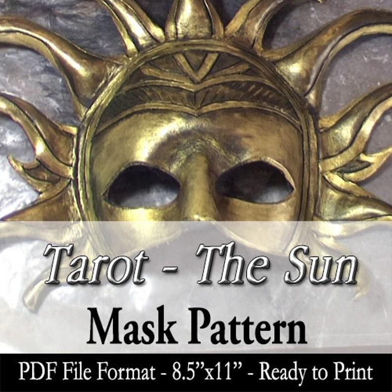 Mask Pattern  Tarot Masquerade Series  The Sun Mask DIY Do image 0