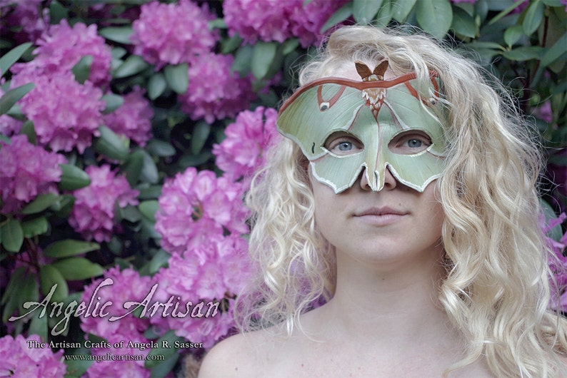 Made to Order Full Spread Wings Ascending Luna Moth Leather image 0