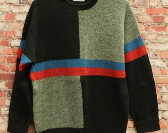 15ebeb24703 Vtg Trader Vic s 100% Shetland Wool Sweater Men s Small