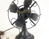 Antique Westinghouse Whirlwind 280598 Electric Fan, Brass Badge 8 quot Blades Vintage