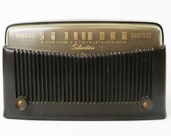 Vtg Rare 1949 1950 Silvertone Tube Radio Model 9005 - For Repair
