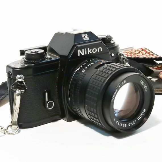 nikon em 35mm slr film camera w 2 lenses flash auto winder etsy rh etsy com Nikon Em Camera Manual Nikon EM Manual PDF
