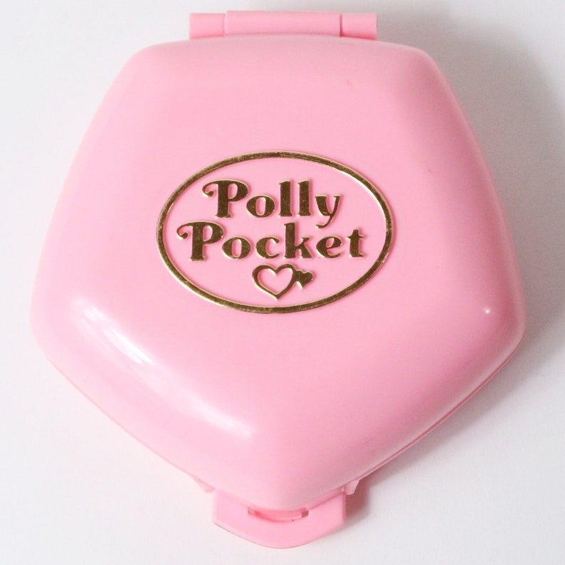 b3f2fe44f19f3 Vintage Bluebird 1992 Polly Pocket Compact Polly in the Nursery + 3 Figures