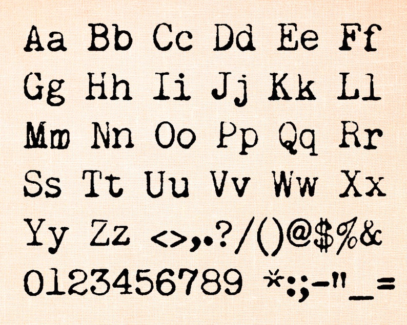 Old Typewriter TTF, Installable True Type Font File, Commercial Use,  Distressed Type Font, Grunge Font, Vintage Typewriter Font, TTF File