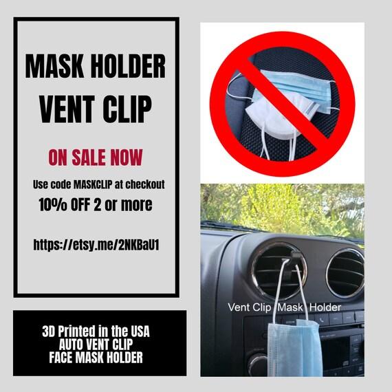 Simplify Disc Face Mask Holder Car Vent Clip