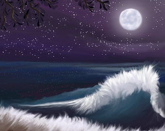 Full Moon Surf PNG