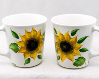 Coffee or Tea Cup - 16 oz - White or Black Cups - Hand Painted