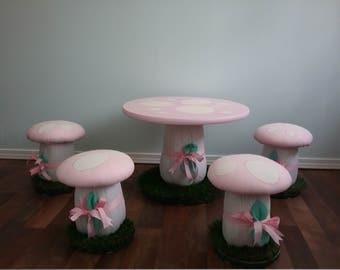 Mushroom table chair | Etsy