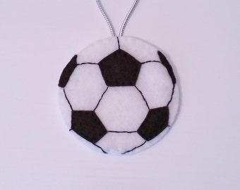 Soccer Ball Felt Christmas Handmade Ornament