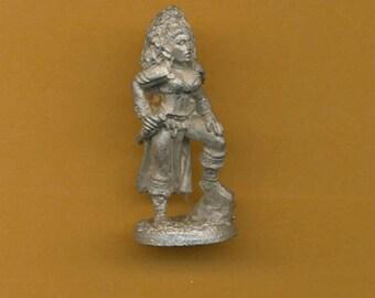 Vintage Ral Partha AD&D Female Warrior 25mm Miniature