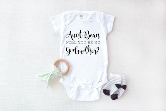 Godmother bodysuit will you be my Godmother? Godmother onesie