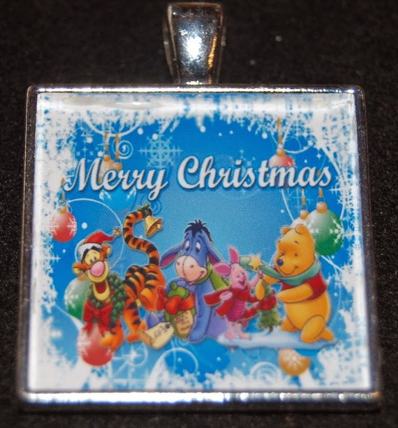 winnie the pooh tigger piglet eeyore xmas merry christmas etsy