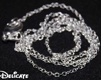 "LONG Delicate Silver Necklace 925 Necklace Chains 18"" 20"" 22"" 26"" 28"" 30"""