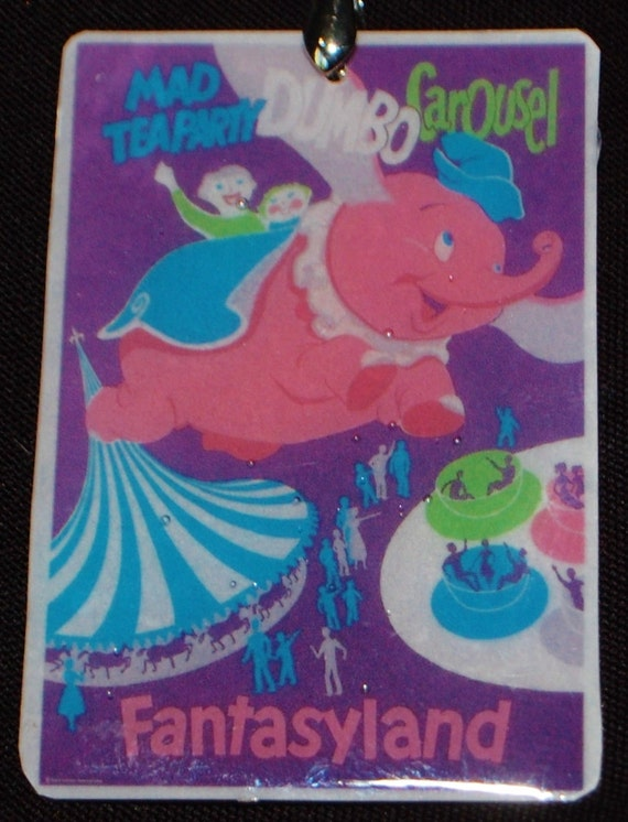 Vintage Mad Tea Party Dumbo Carousel Disneyland Poster Available in 5 Sizes