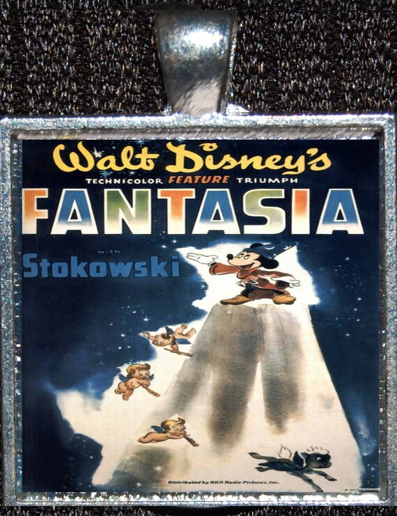 Fantasia Movie Poster Mickey Sorcerer S Apprentice Walt Etsy