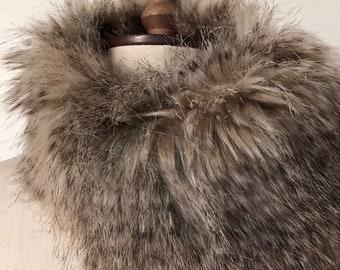Grey Fox Fur Scarf