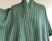 Green Herringbone Poncho Jacket Wool Plus Size Kimono Jacket Womens Mens Poncho Cape Coat Olive Green Gift for Her Him Made in UK