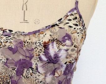 Lavender Floral Animal Print Vest