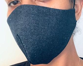 3 Denim Face Masks