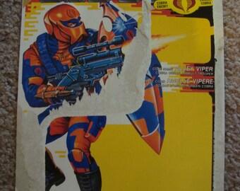 GI Joe Weapon ROCK N ROLL Yellow Gun 1993 Original Figure Accessory #6