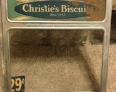 Christies Biscuits Display Front , Tin with Original Glass