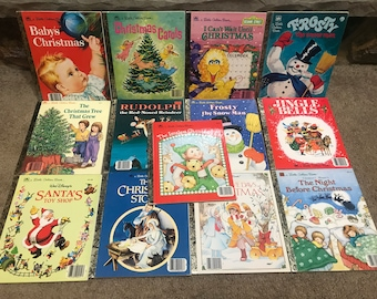 Little Golden Books Christmas Collection 12 books