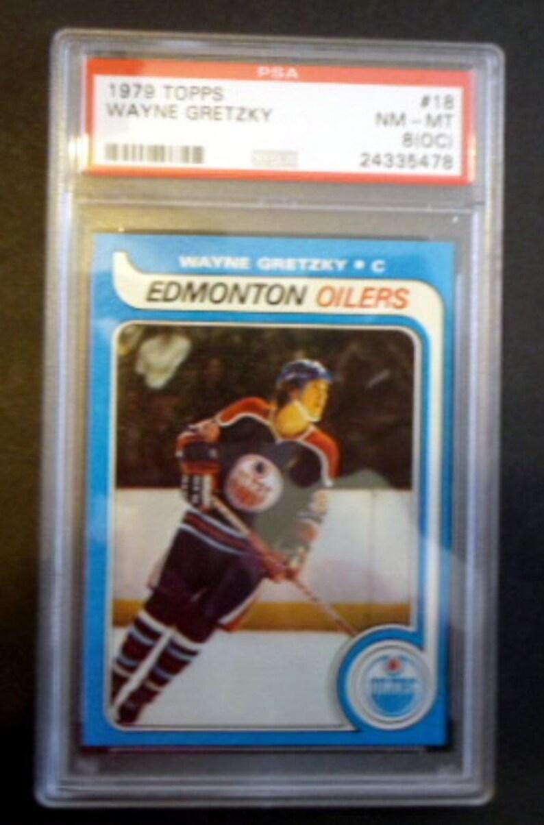 1979 80 Topps Hockey Wayne Gretzky 18 Rookie Card Psa 8