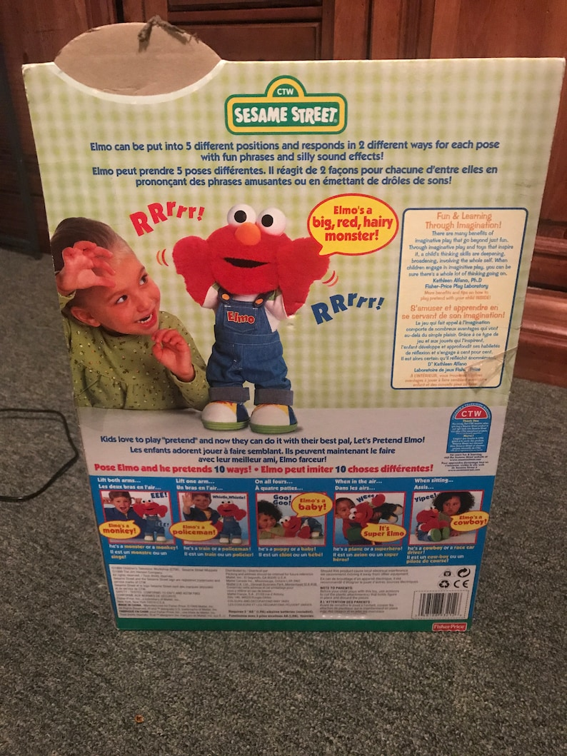 Elmo Sesame Street Lets Pretend Plush Talking Moving Toy Fisher Price 1999