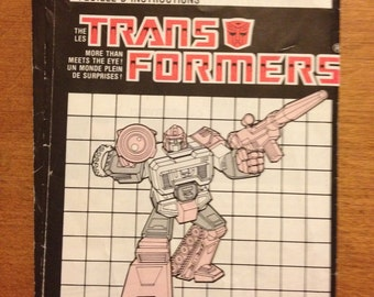 Vintage Transformers Perceptor Instruction Booklet 1980s