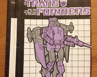 Vintage Transformers Scourge Instruction Booklet 1986
