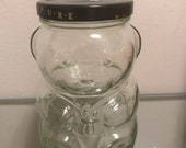 Vintage Kraft Peanut Butter Glass BEAR JAR 1980s