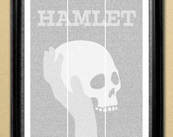 Hamlet, full-text poster, 16x20 in. (Instant Download)