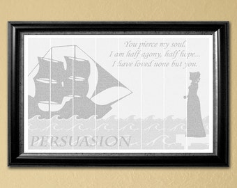Persuasion, full-text poster-printable, 24x36 in. (Instant Download)