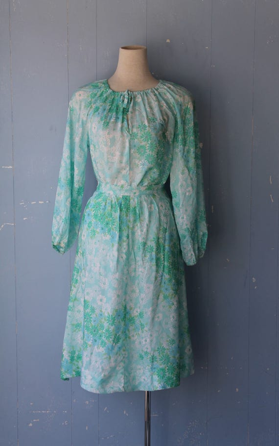 Vintage 70s Matching Top and Skirt/Seperates/Match