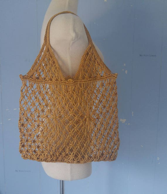 Vintage Raffia Market Bag/Straw Bag/Stras Tote/