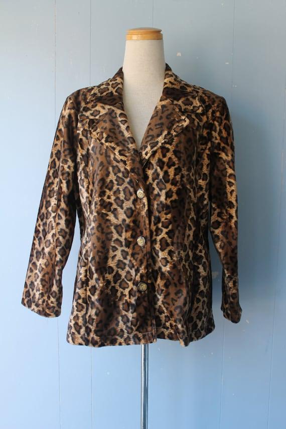 Vintage 90s Leopard Print Blazer/Jacket