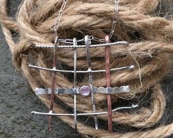 Quilting necklace ,  chrafters necklaces , weaving necklaces