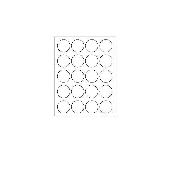 Étiquettes vierges, 20 $ par feuille, étiquettes de cercle (12 feuilles, 144 étiquettes)
