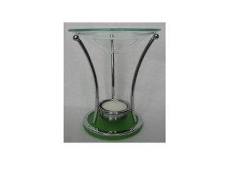 Green Modern Art Oil Warmer