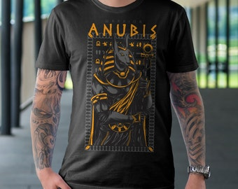 Anubis T Shirt - Anubis Warrior Egyptian T Shirt American Apparel T-shirt shirt adult soft graphic design black  Gift for him tee