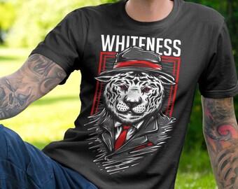 White Tiger Mafia Men's T Shirt - American Apparel T-shirt shirt adult soft graphic design black  Gift for him tee