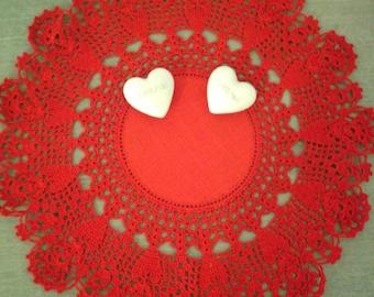 Doily zweigart red valentine