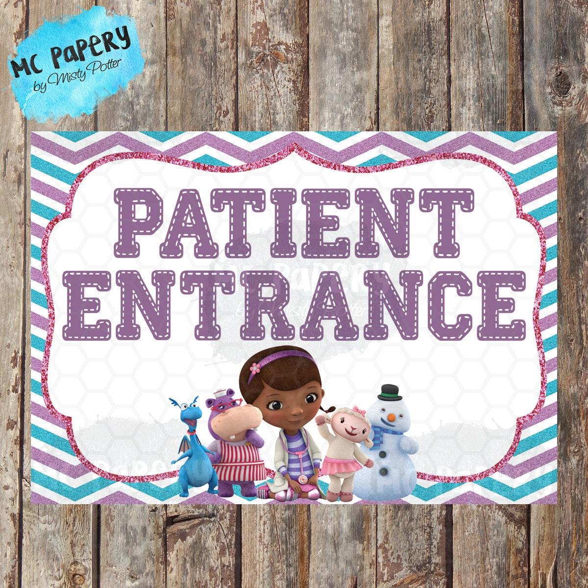 Doc Mcstuffins Party Signs Doc Mcstuffins Birthday Doc Etsy