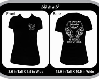 25b5d79e Dad Guardian Angel T-Shirt, Dad Memorial T-Shirt, Memorial T-Shirt, In  Memory of Dad T-shirt