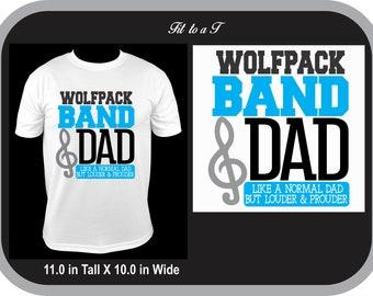 0b830bbd Marching Band Dad T-Shirt, Marching Band T-Shirt, Band Dad T-Shirt, Band  Dad Tee, Band Dad Gift, High School Marching Band Shirt