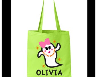 Personalized Halloween Treat Bag, Trick or Treat Bag,  Halloween Candy Bag, Halloween Gifts, Halloween Tote Bag