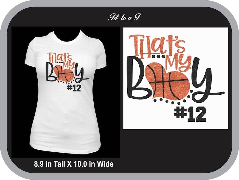 884668cff3c7 That s My Boy Glitter Basketball Mom T-Shirt Basketball