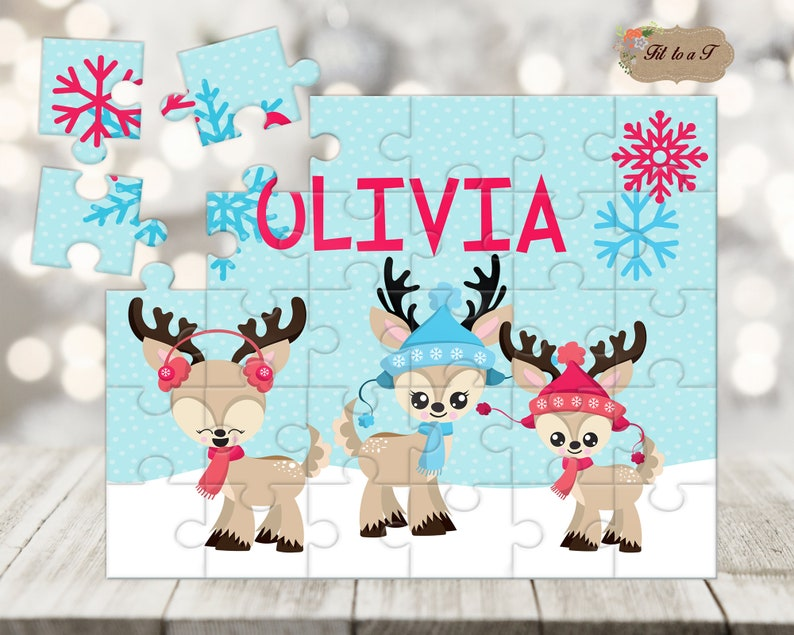 Personalized Kids Christmas Puzzle Stocking Stuffer Gifts
