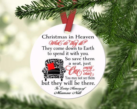Memorial Christmas Ornaments.Memorial Christmas Ornament Personalized Christmas Ornament In Loving Memory Ornament Remembrance Ornament