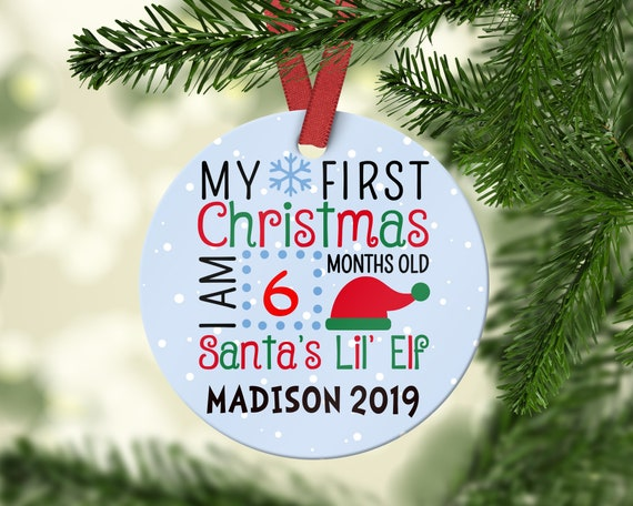 Christmas Gifts For New Parents.Baby S First Christmas Ornament Personalized Christmas Ornament Gifts For Baby Baby Keepsake Gift For New Parents